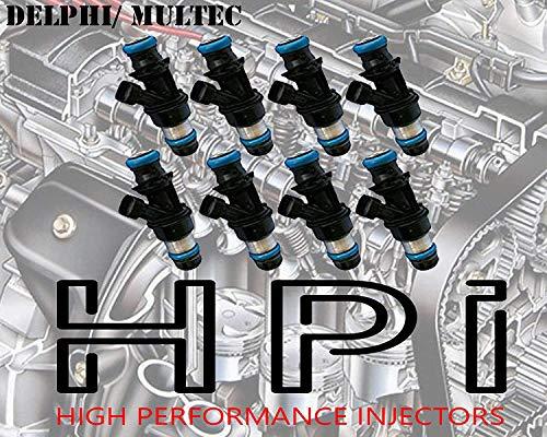 8 HIGH IMPEDANCE 12 OHMS 42LB 440CC FUEL INJECTORS. LQ4 LQ9 4.8 5.3 6.0 {DELPHI SHORTIES} GMC SUV GM (42LB 440CC)
