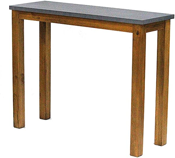 Heather Ann Creations W22366 MON 31 5 Montana Wood Finish With Cement Look Top Handmade Rustic Farm Style Console Table Writing Desk