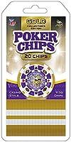 MasterPieces NFL Minnesota Vikings 20-Piece Poker Chips