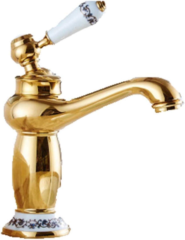 CTREKE Waschbecken Wasserhahn Spüle Mischer Bad Wasserhahn Bad hei und kalt B