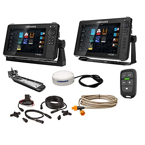 Lowrance HDS Live Bundle - 9 & 12 Display AI 3-in-1 T/M Transducer, Point 1 GPS Antenna, LR-1 Remote & Cabling -  000-15782-001