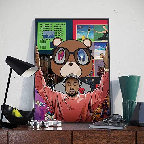 Kanye West Poster | Kanye Compilation Print (A3 Size)