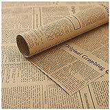 RoxNvm Papel de regalo, Papel de Envolver para Regalo, 20 hojas de papel de envolver de periódico...