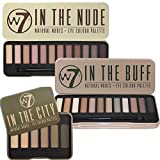 W7 Trio Eye Shadow Palette Collection Colour Me Buff Natural Nudes, In The Nude & In The City by W7