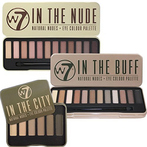 W7 Trio Eye Shadow Palette Collection In The Buff Natural Nudes, In The Nude & In The City