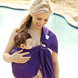 Swimming Non Slip Accessories Wrap Daily Mesh Backpack Double Ring Beach Water Sling Quick Dry Baby Carrier Pool Child Evident Effect Backpacks & Carriers