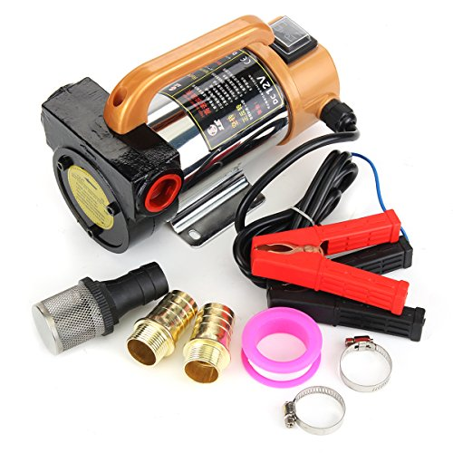 MJJEsports 12 V 300 W pomp voor brandstofolie diesel draagbaar auto oliepomp 50 l/min