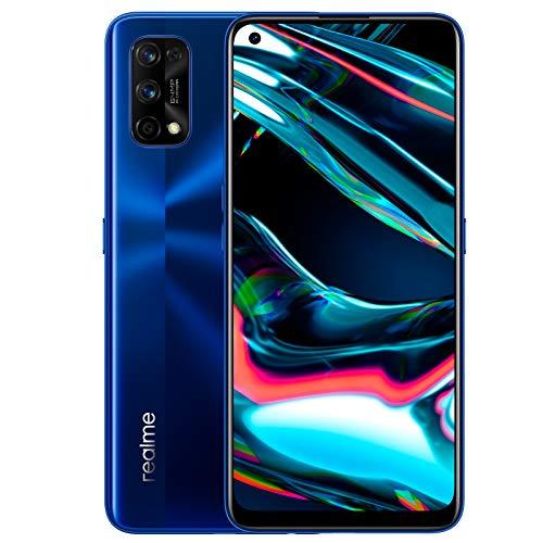 """realme 7 Pro - Smartphone de 6.4"""", 8GB RAM + 128GB ROM, pantalla SuperAMOLED FHD+, procesador Octa-Core Snapdragon 720G., azul [Versión ES/PT]"""