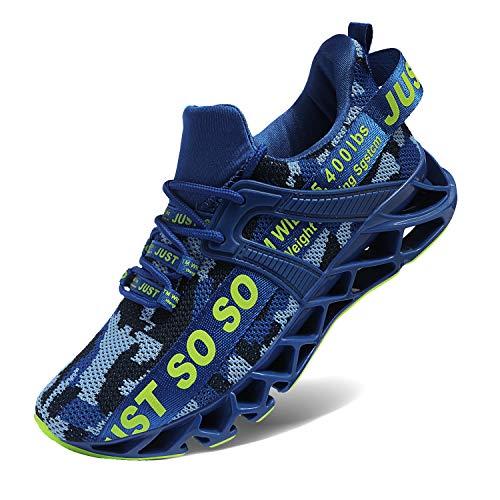 COKAFIL Mens Running Shoes Athletic Walking Tennis Shoes Blade Fashion Sneakers