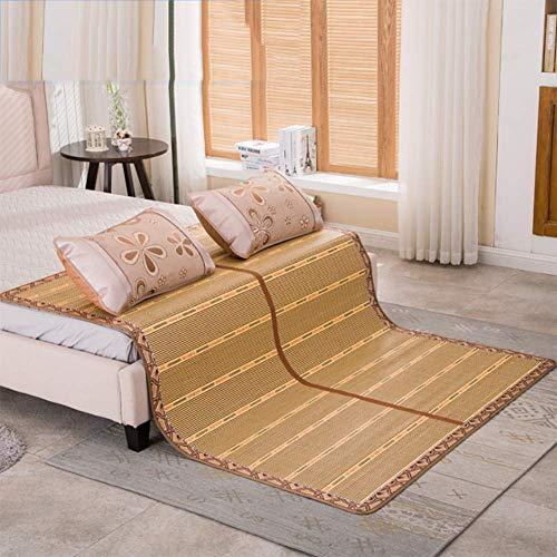 FGDSA Rattan Cooling Summer Isomatte Matratze Topper & Pillow Shams Set, 1.4X1.95m