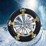 Pueri Schneeketten Auto Schnee Reifen Kette Mangan Stahl Auto Reifen Notfall Schnee Reifen Kette Auto Sicherheitskette (S)