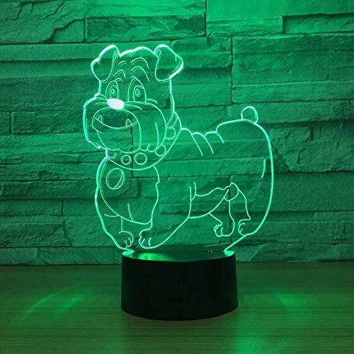 3D Stierkampf Illusion Lampe Weihnachtsgeschenk Nachtlicht neben Tischlampe Jawell 7 Farben Auto Changing Touch Switch Schreibtisch Dekoration Lampen Geburtstagsgeschenk-16 colors remote