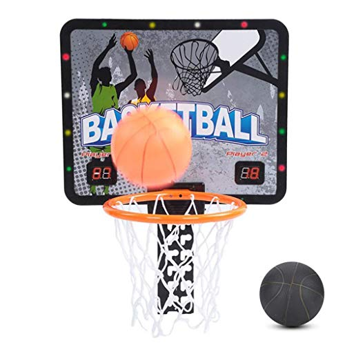 LQH Mini Basketballkorb Set, Smart-Scoring-Wandhalterung hängende Art über die Tür mit Backboard Pump Gummiball for Kinder Indoor Outdoor