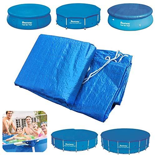 HOUADDY Cobertor Piscina para Piscina Desmontable PVC Protección Solar Resistente A La...