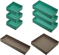 yamapac 引き出しキレイ 整理トレイ SHIKI® 組み合わせ8個セット (エメラルドグリーン×トープ)