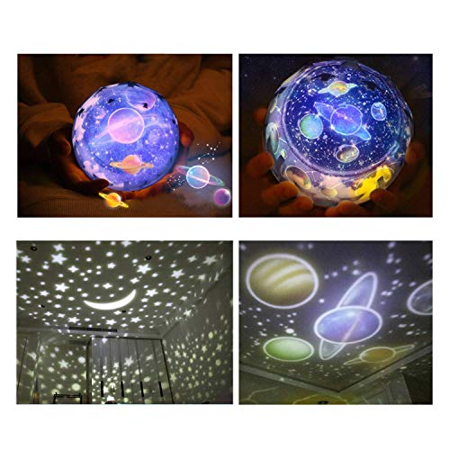 Star Night Light for Kids, Universe Night Light Projection Lamp, Romantic Star Sea Birthday New Projector lamp for Bedroom - 3 Sets of Film 2