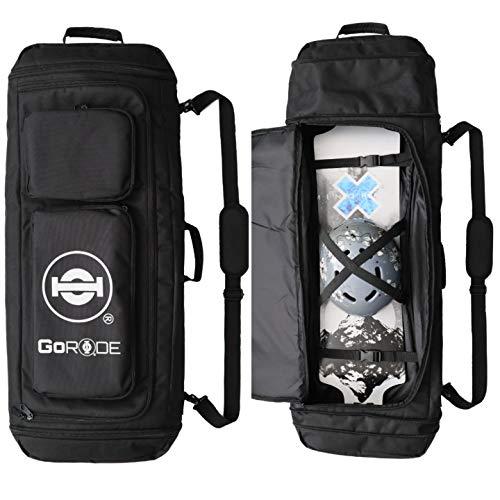 GoRide Elite Electric Longboard Skateboard Backpack Bag Carrier with Laptop Holder (Black)