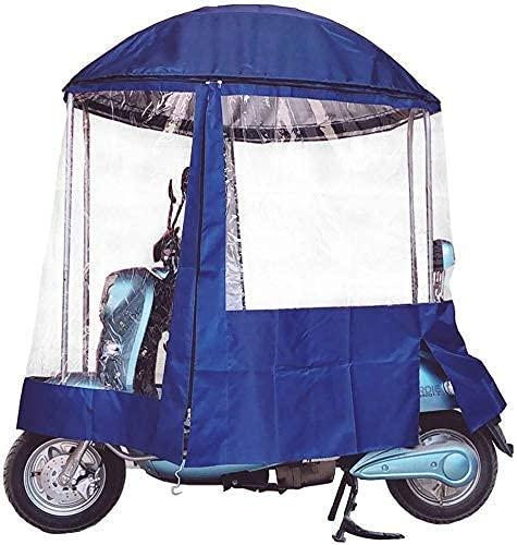 Cubierta de lluvia para motocicleta, Paraguas universal para scooter de motor para automóvil Mobility Sun Paraguas impermeable, Paraguas para scooter de motor completamente cerrado Parasol de movili