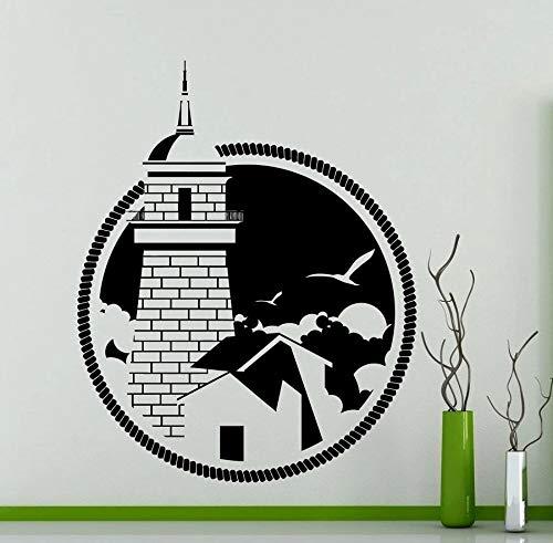 Lighthouse Logo Yangyang vinilo pared pegatina familia inspiradora pared pegatina