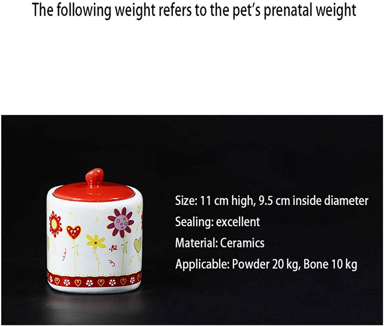MSNDD Pet Seal Casket Commemorative Jar Memorial Pot Cremation Dog Cat Rabbit Ceramic Box Home Commemorative Tank (color   D)