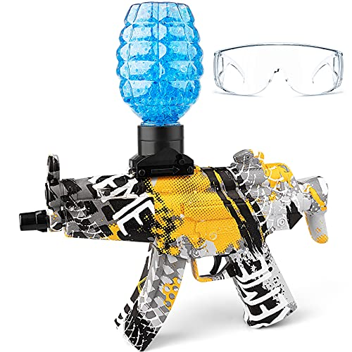 Gel Ball Blaster Toy Gun - Electric Gel Guns with Goggles & 5000 Water Beads Bullets, Kids Outdoor...