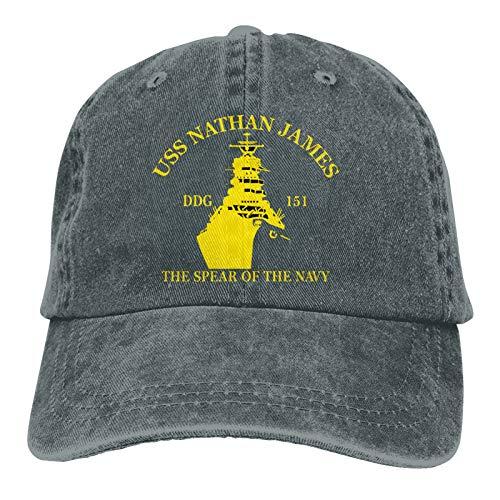 USS Nathan James The Last Ship Unisex Adult Cap Adjustable Cowboys Hats Baseball Cap Deep Heather