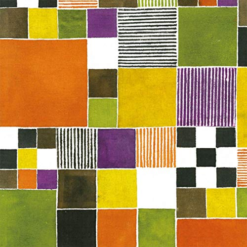 Servilletas (juego de 2/40 unidades, 3 capas, 33 x 33 cm), diseño de azulejos de colores
