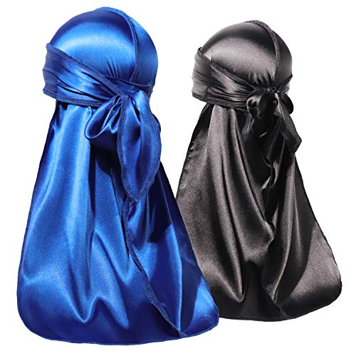 ForceWave 2 PCS Silky Satin Baby Durags for Boys Girls Infant