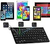 Navitech Schwarz Wireless Bluetooth Keyboard/Tastatur für Android & Windows Smartphones & Tablets wie Pocketbook SURFpad 4M 7.85 / Pocketbook Inkpad
