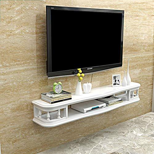 FHKBB TV Rack Shelf Cabinet Media Entertainment Console Game Shelf Unit Armario de Pared Muebles para el hogar Estante Flotante de Montaje en Pared Blanco (tamaño: 120 cm)