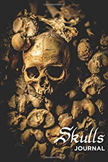 Skulls Journal: 240 Page Lined Softcover Notebook
