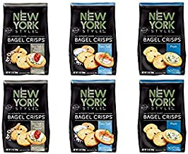New York Style Bagel Crisps, Sea Salt & Cracked Pepper + Plain, 16 Ounce