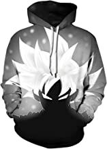 bettydom Men's Fashion Hoodies Sweatshirt Japanese Anime Pullover Inspired by Dragon Ball