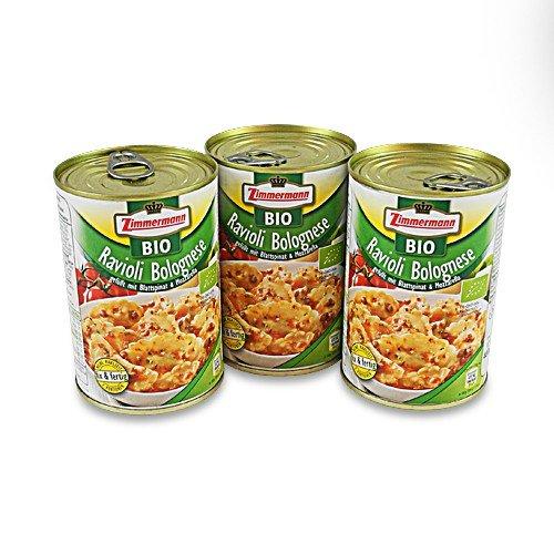 BIO Ravioli Bolognese 3er Pack (3 Dosen à 400 ml)