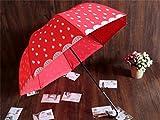 Regenschirm Super Persönlichkeit Kreative Red Frau Mädchen reizender Karikatur-Wassermelone Erdbeere Regenschirm Langstieligen Regenschirm Sunny Umbrella Princess Regenschirm Sonnenschirm