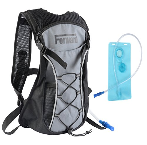 Forward Hydration Pack with 2L 72 oz Water Bladder BPA Free & Lightweight for Hiking Biking Climbing Running Walking & All Sports and Recreational Hydration Backpack Needs