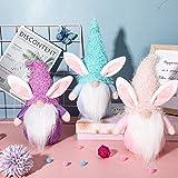 Swedish Bunny Gnome Plush - Cartoon Rabbit Shape Cute Faceless Doll Easter Decoration Decoration Decoration Ornaments-Collection Plush Easter Gnome Doll