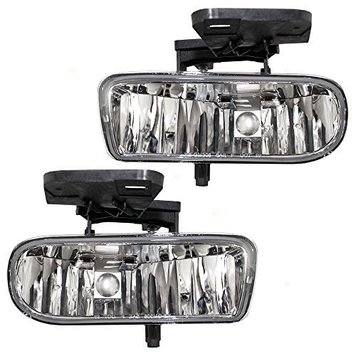 Aftermarket Replacement Driver and Passenger Set Fog Lights Compatible with