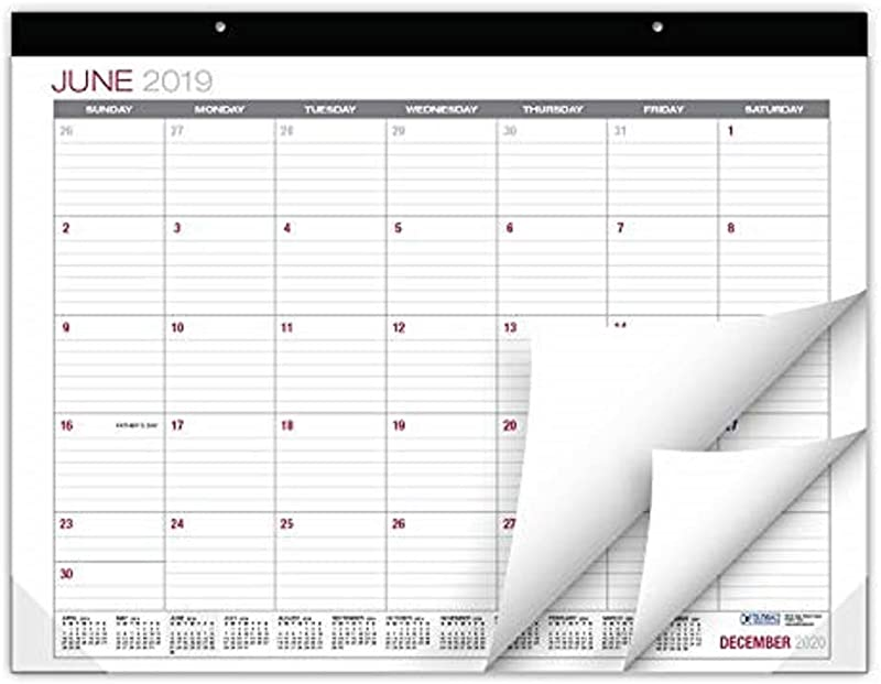 Professional Desk Calendar 2019 2020 Large Monthly Pages 22 X17 Runs From June 2019 Through December 2020 Desk Wall Calendar Can Be Used Throughout 2019 2020