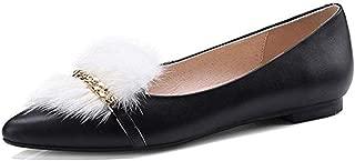 Nine Seven Women's Leather Pointtoe Slip On Flats