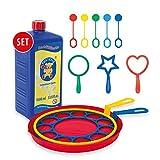 Pustefix Seifenblasen Set für Kinder I 10 Blasringe Plus 1000 ml Seifenblasenwasser I Bunte Bubbles...