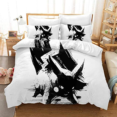 POMJK Pokemon Bed Linen Set Duvet Cover Pillow Case 100% Microfibre 3D Print Children's Anime Duvet Cover (no filler) (A01, King220 x 240 cm + (80 x 80 cm) × 2)