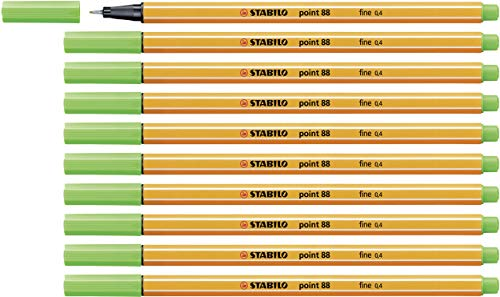 Fineliner - STABILO point 88 - 10er Pack - hellgrün
