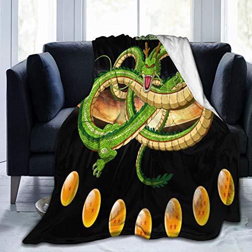 Dragon Ball - Manta de forro polar de franela súper suave, grande, mullida y cálida, para sofá cama, 125 x 150 cm