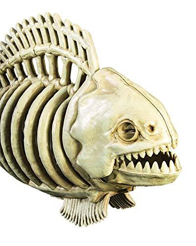 Screamstore Zombie Piranha Skelett Horror Fisch Halloween Aquarium Deko