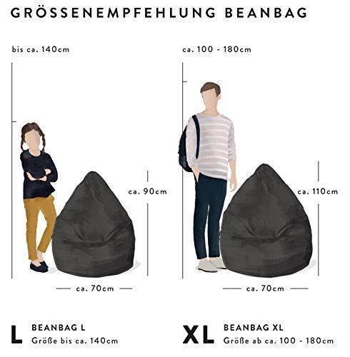 Magma-Heimtex Sitzsack XL Fluffy | Türkis | 70 x 110 cm