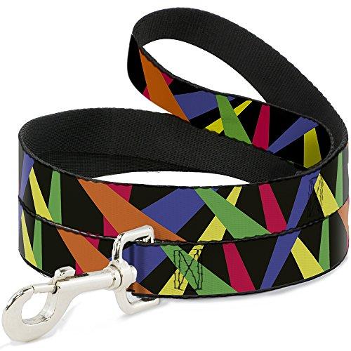 Buckle Down dl-w31907, Strahler schwarz/Multi neon Pet Leine, 4'lang–2,5cm breit