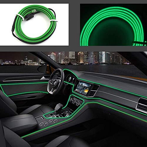 Cable electroluminiscente flexible de 3 m con luz de neón brillante para coche, decoración de Navidad, 12 V de DC, iluminación de 360 grados