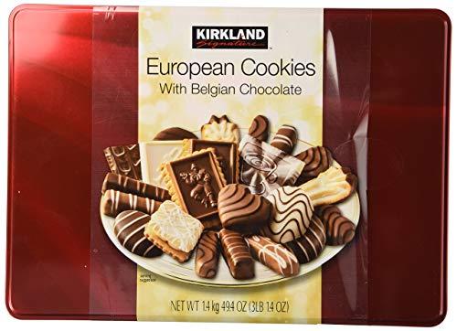 Cos-Sl Kirkland European Cookies with Belgian Chocolate 15 Variety Flavors Of 49.4 Ounce (Pack of 4)