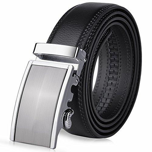 Vbiger Herren Gürtel Leder Gürtel Anzug Gürtel Jeans Gürtel, 1-schwarz5, Einheitsgröße